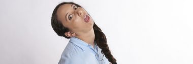 Woman making funny face to show she is annoyed